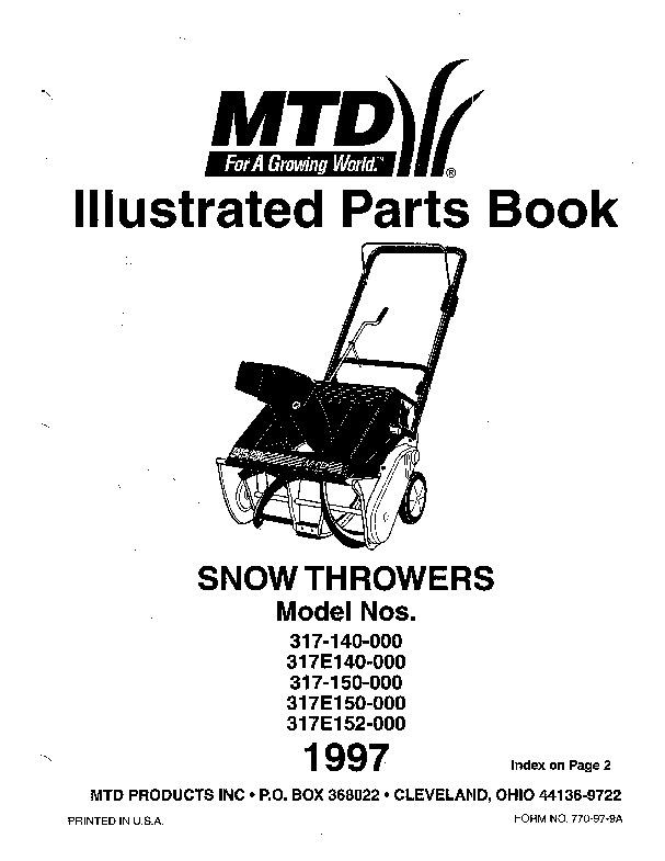 white snowblower parts diagram