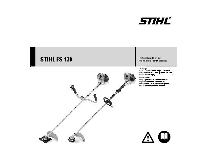Stihl fs 130 workshop service manual chainsaw.