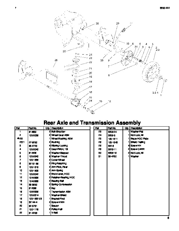 2003 Toro 20014 20018 22 Inch Recycler Lawn Mower Parts