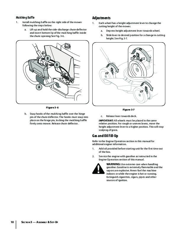 Huskee Mower Manuals : Mtd m series inch self propelled lawn mower owners manual