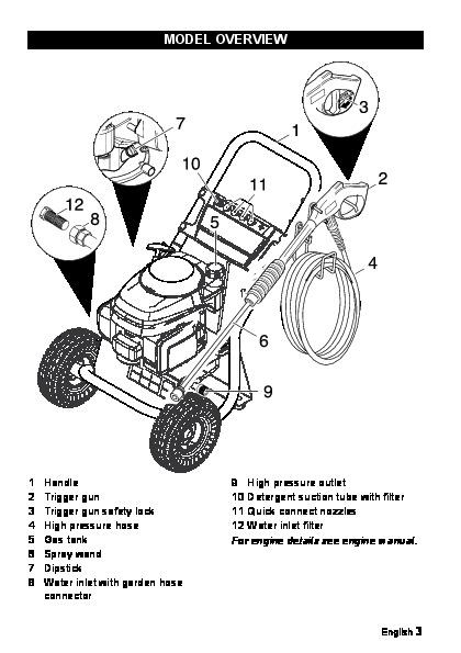 K 228 Rcher G 2600 Ph Gasoline Power High Pressure Washer