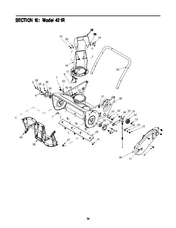 mtd cub cadet 421r snow blower owners owners manual