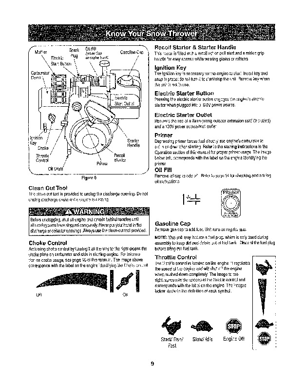 craftsman 22 inch snow blower manual