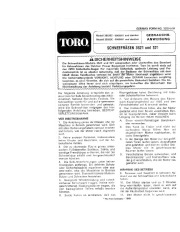 Toro 38052C 521 Snowthrower Laden Anleitung, 1989 page 1
