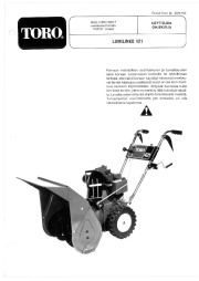 Toro 38015 421 Snowthrower Owners Manual, 1981 page 1