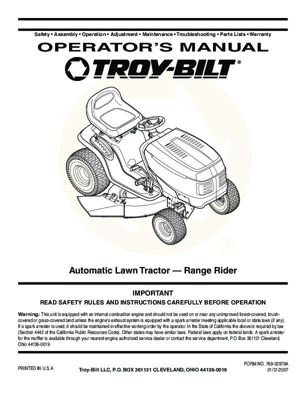mtd troy bilt automatic range rider tractor lawn mower Old MTD Garden Tractors Old MTD Garden Tractors