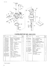 Toro 38054 521 Snowthrower Parts Catalog, 1993 page 14