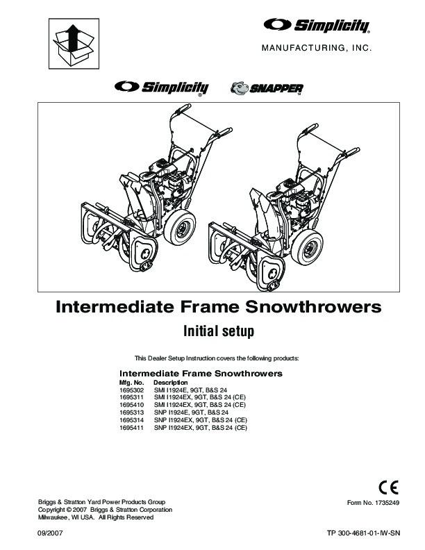 simplicity snapper 1695302 1695311 1695410 1695313 1695314 1695411 rh filemanual com snapper snow blower owners manual Snapper Snowblower Parts