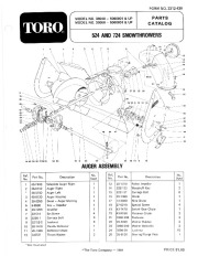 Toro 38040 524 Snowblower Manual, 1985 page 1