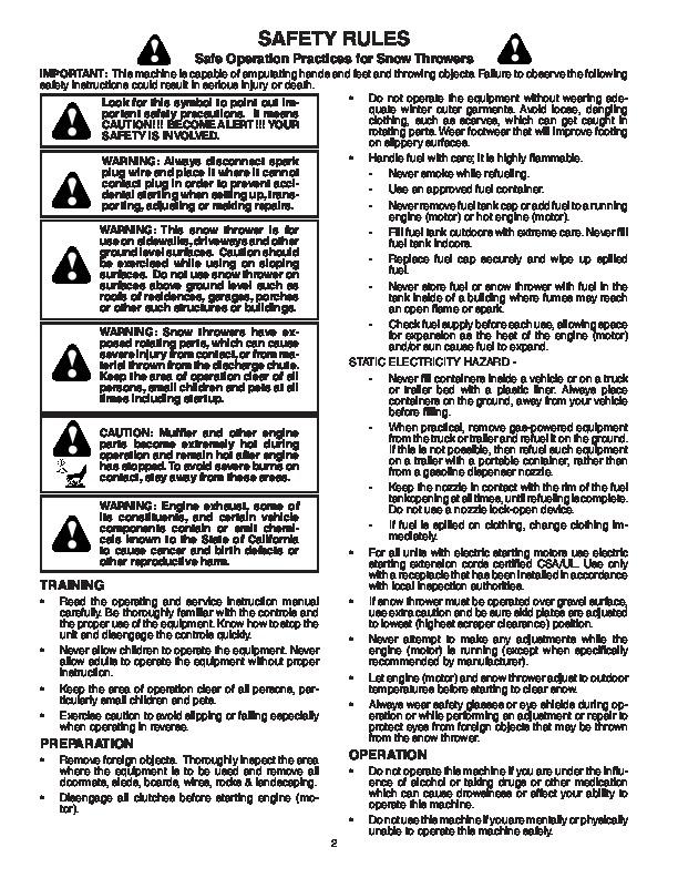 poulan pp8527esa 187887 snow blower owners manual 2004 rh lawn garden filemanual com Cartoon Manual User Manual PDF
