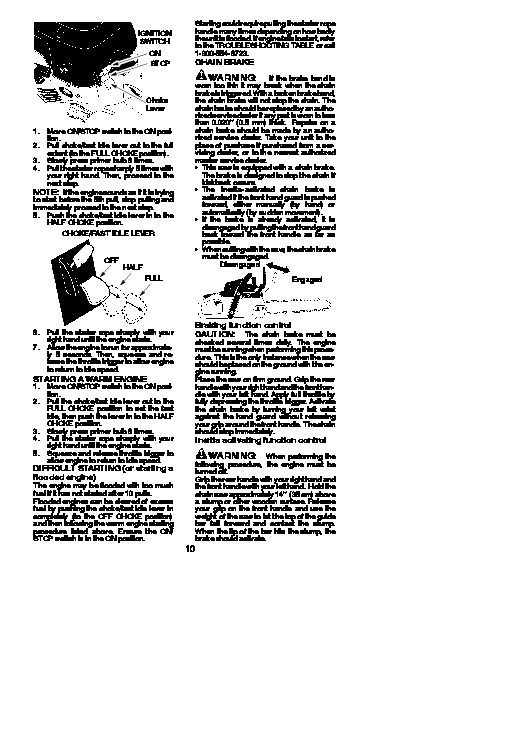 poulan chainsaw p3314 owners manual
