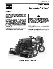 toro reelmaster 2000 d rh lawn garden filemanual com Toro 216 Reelmaster Starter Toro 216D