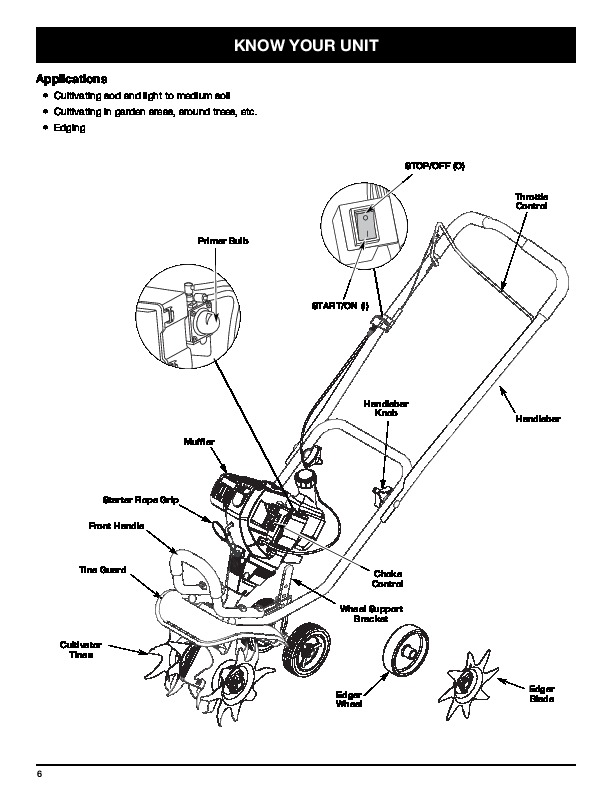 Craftsman Tiller Owners Manual Model 917 299710