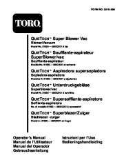 Toro 51566 Quiet Blower Vac Manual, 1998 page 1