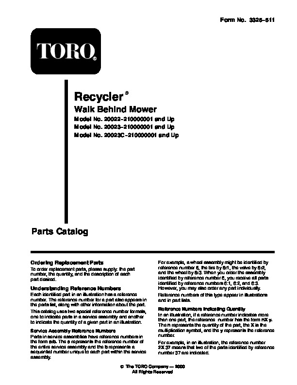 toro 20022 20023 20025 20027 20035 r 21s recycler lawn mower owners rh lawn garden filemanual com toro 20027 manual