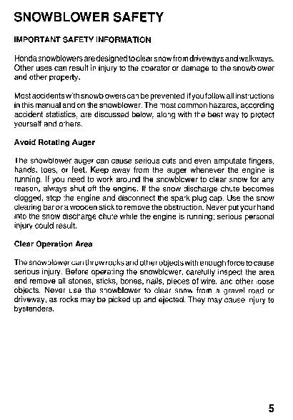 honda hs624 hs724 hs828 hs928 hs1132 snow blower owners manual rh filemanual com honda snowblower hs928 repair manual Honda HS624 Parts