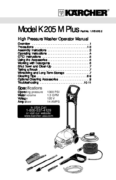 Generac Electric Pressure Washer Parts Manual Guide