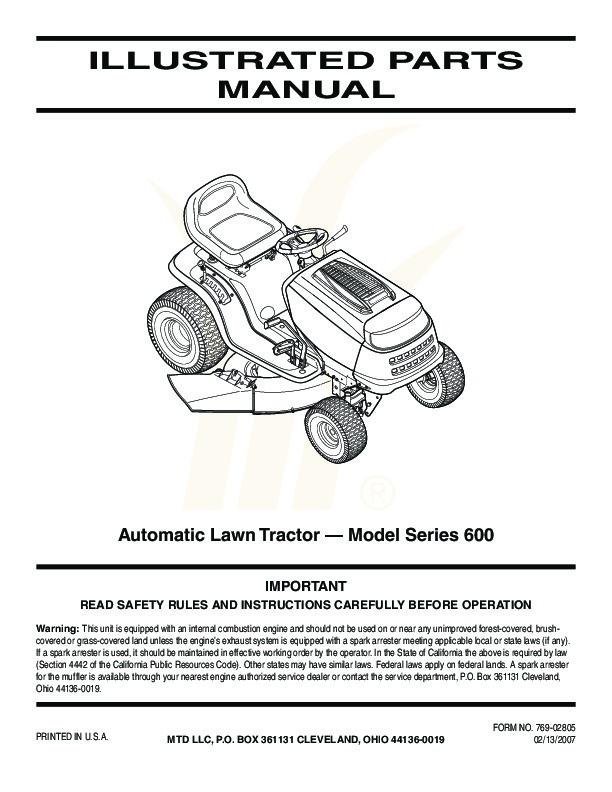 mtd tractor manual daily instruction manual guides u2022 rh testingwordpress co MTD Snow Thrower Parts Manual MTD Snow Thrower Parts Manual
