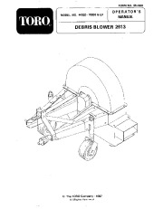Toro 44520 Debris Blower 2613 Manual, 1999 page 1