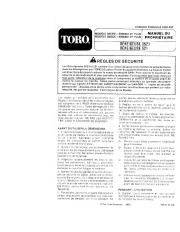 Toro 38052C 521 Snowthrower Manuel des Propriétaires, 1988 page 1