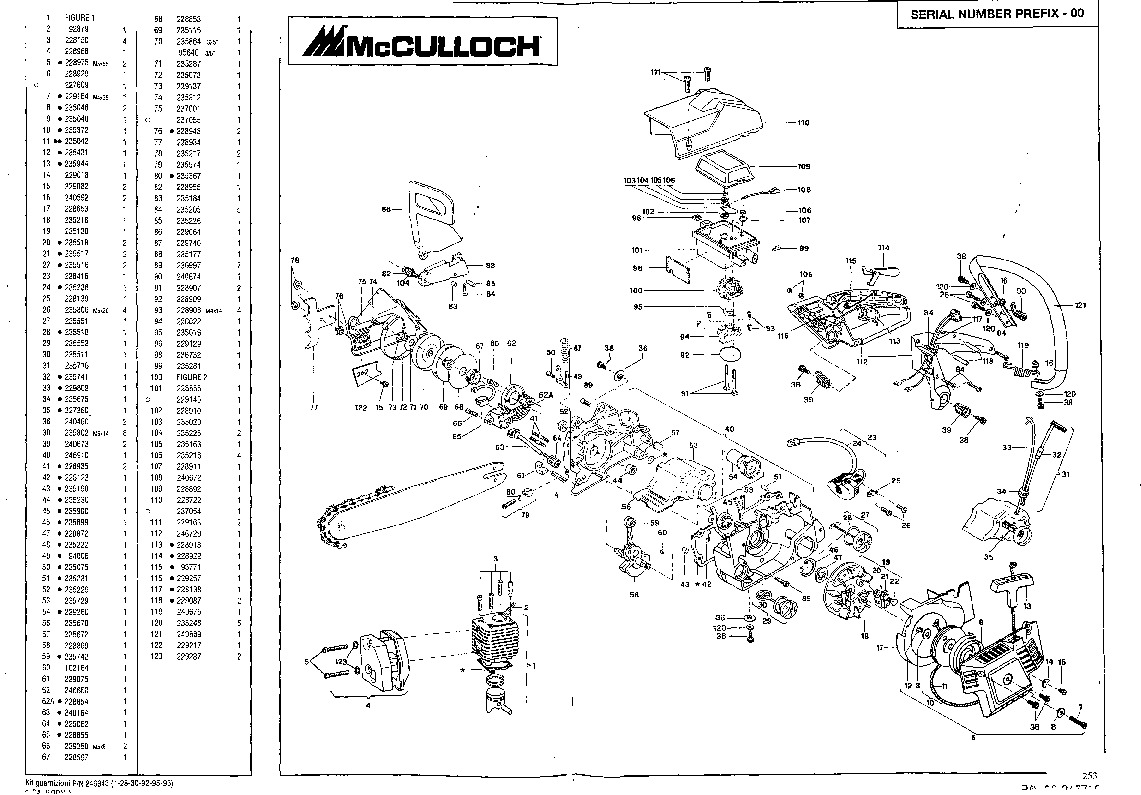 mcculloch mac 930 930 940 california 90 daytona 900 1000