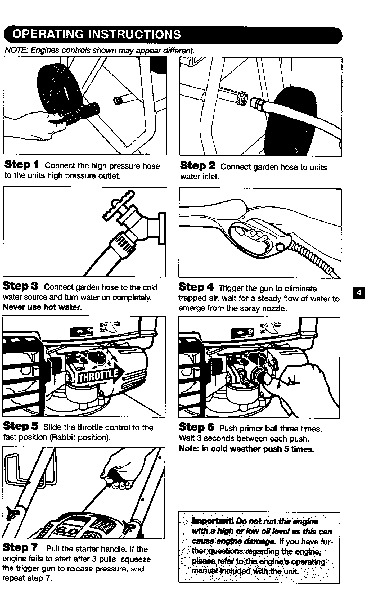 Krcher G 2300 Lt Gasoline High Pressure Washer Owners Manual