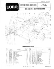 Toro 38040 524 Snowblower Manual, 1986 page 1