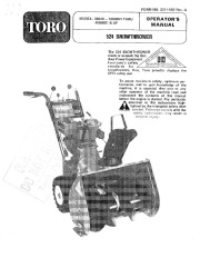 Toro 38040 524 Snowblower Manual, 1981, 1984 page 1