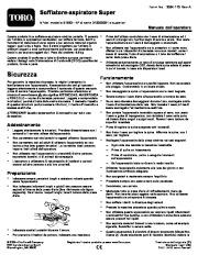 Toro 51593 Super Blower/Vacuum Manuale Utente, 2010, 2011, 2012, 2013, 2014 page 1