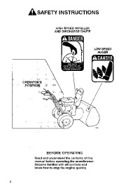 Toro 38054 521 Snowthrower Owners Manual, 1994 page 4