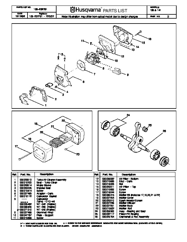 husqvarna 136 141 chainsaw parts manual 2002 2003 2004 2005 2006 rh lawn garden filemanual com husqvarna parts manual 7021p husqvarna parts manual 1971
