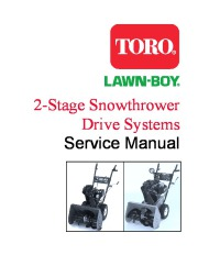 Toro 38054 521 Snowthrower Service Manual, 1993 page 3