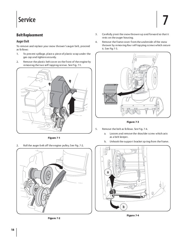 mtd cub cadet 526 we snow blower owners owners manual