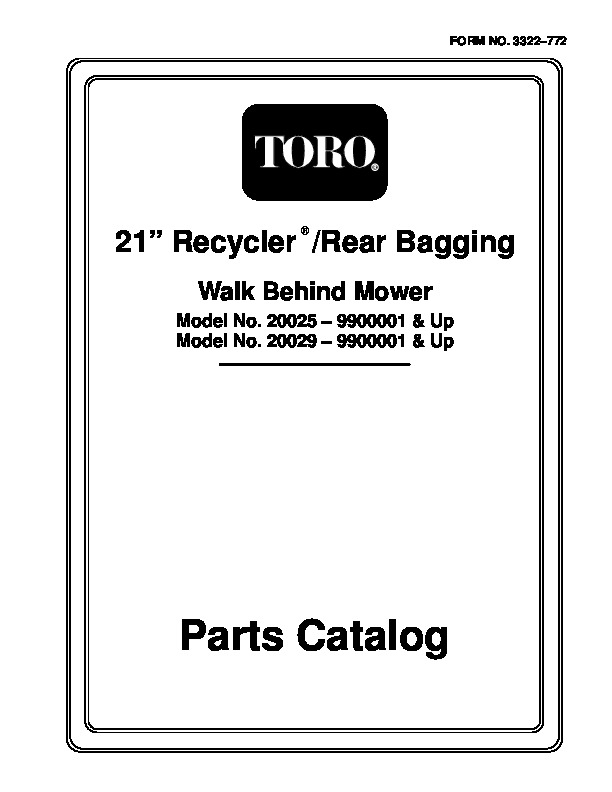 toro 20022 20023 20025 20027 20029 20061 21 inch steel deck recycler rh filemanual com Rain Bird Manuals Rain Bird Manuals