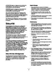 Toro 38053 824 Snowthrower Manuel des Propriétaires, 2000, 2001 page 3