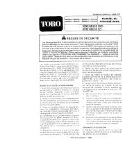 Toro 38052C 521 Snowthrower Manuel des Propriétaires, 1989 page 1