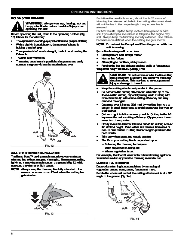 troy bilt 2 cycle trimmer manual