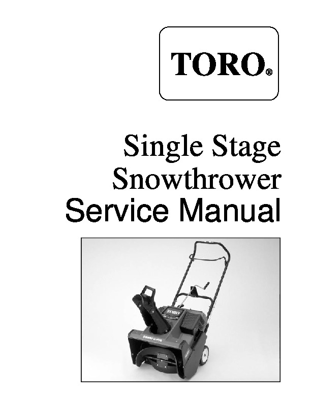 toro single stage snow blower service manual rh lawn garden filemanual com toro snow blowers manuals ccr 2455 toro snow blowers manuals 581
