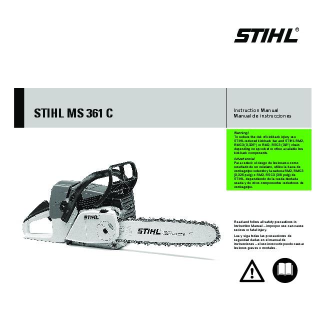 stihl ms 361c chainsaw owners manual rh filemanual com stihl chainsaw owners manual free download stihl chainsaw owners manual pdf