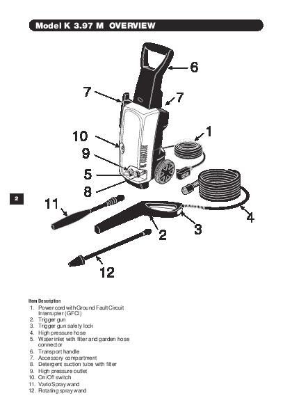 Karcher K 3.97 инструкция - фото 9