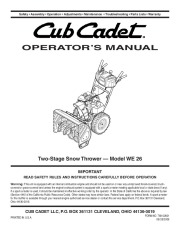 cub cadet 524 swe owners manual