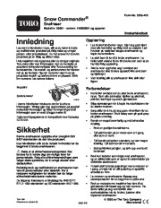 Toro 38601 Toro Snow Commander Snowthrower Eiere Manual, 2004 page 1