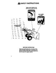 Toro 38054 521 Snowthrower Owners Manual, 1992 page 4