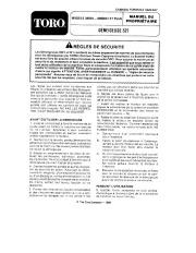 Toro 38054 521 Snowthrower Manuel des Propriétaires, 1990 page 1