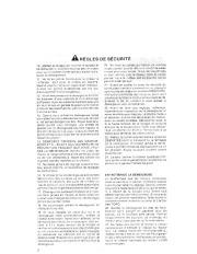 Toro 38054 521 Snowthrower Manuel des Propriétaires, 1990 page 2