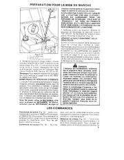 Toro 38054 521 Snowthrower Manuel des Propriétaires, 1990 page 9