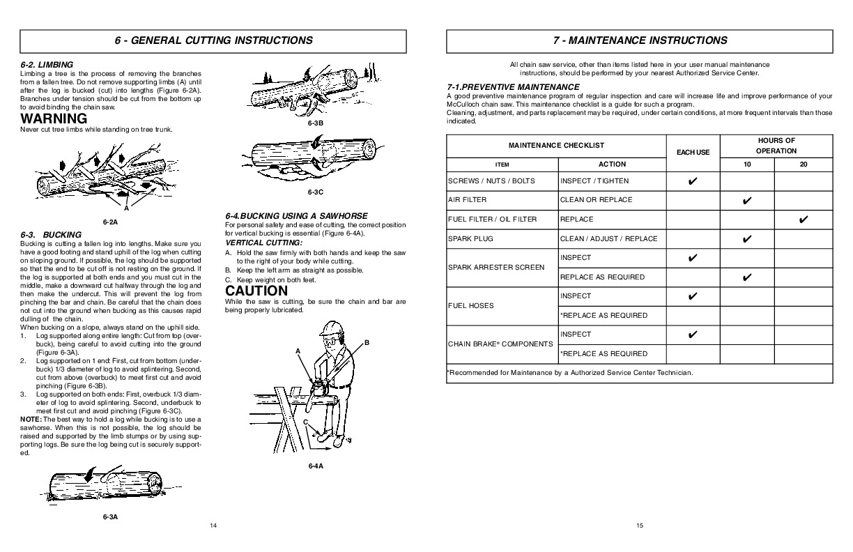 mcculloch eager beaver ebc1840dk chainsaw owners manual rh filemanual com eager beaver manual chainsaw 2 0 eager beaver weed eater manual