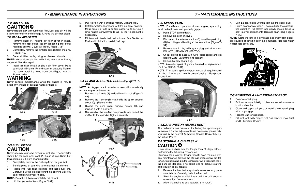 Download Mcculloch Eager Beaver Chainsaw Owners Manual Manual Guide