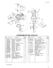 Toro 38054 521 Snowthrower Parts Catalog, 1995 page 13
