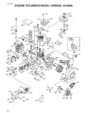 Toro 38054 521 Snowthrower Parts Catalog, 1995 page 8